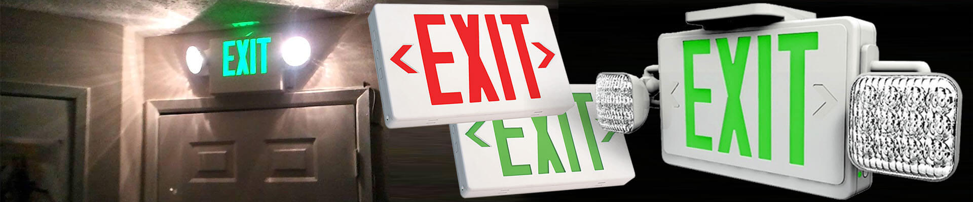 exit signs and lighting
