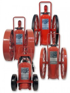Red Line Wheeled fire extinguisher group
