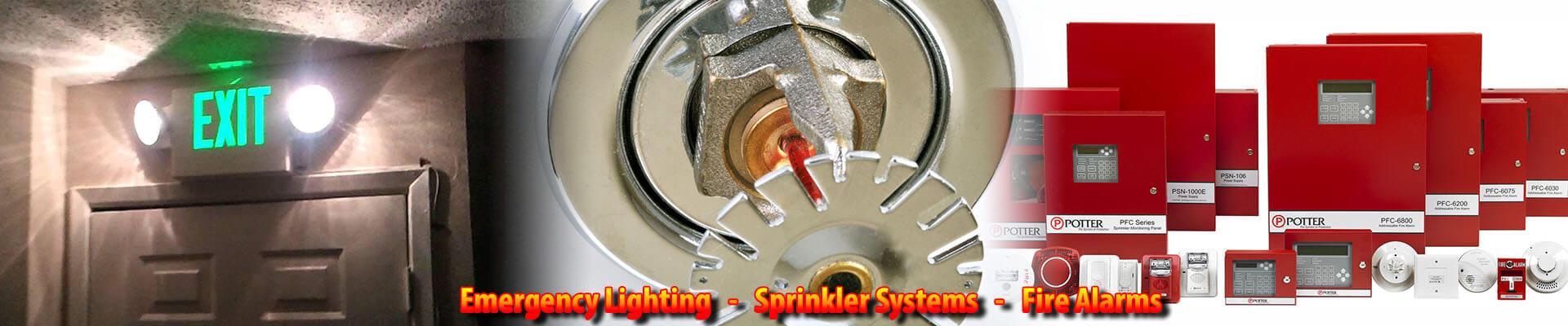 sprinklers alarms lights
