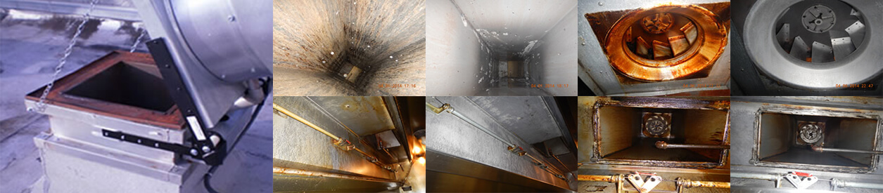 before and after kitchen exhaust photos