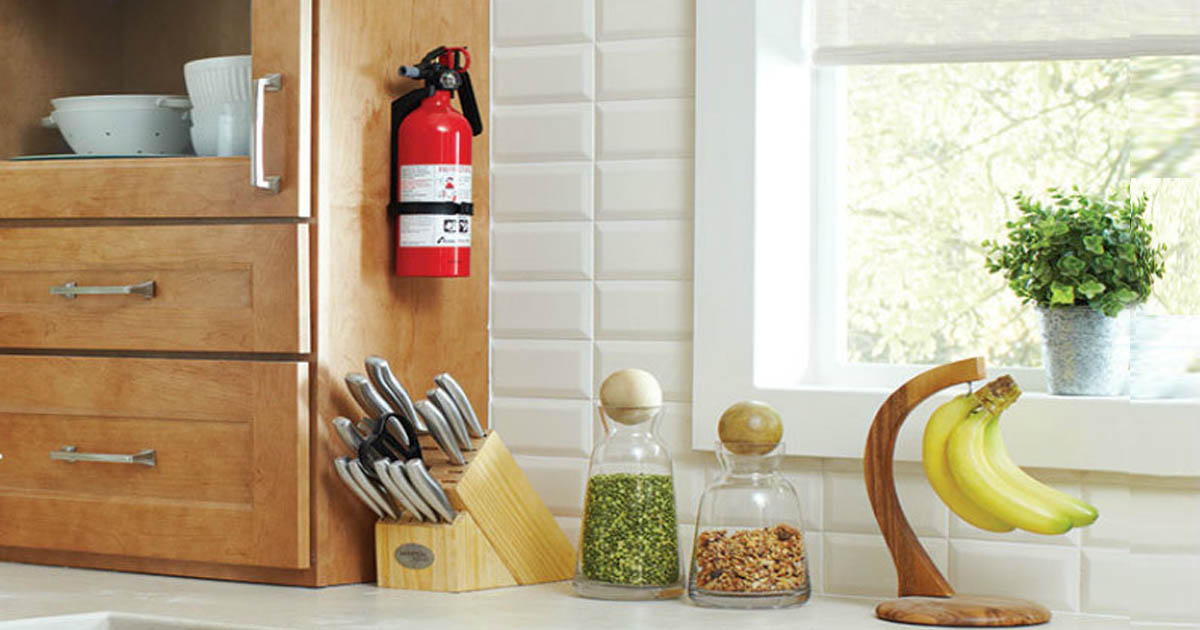 extinguisher in kitchen